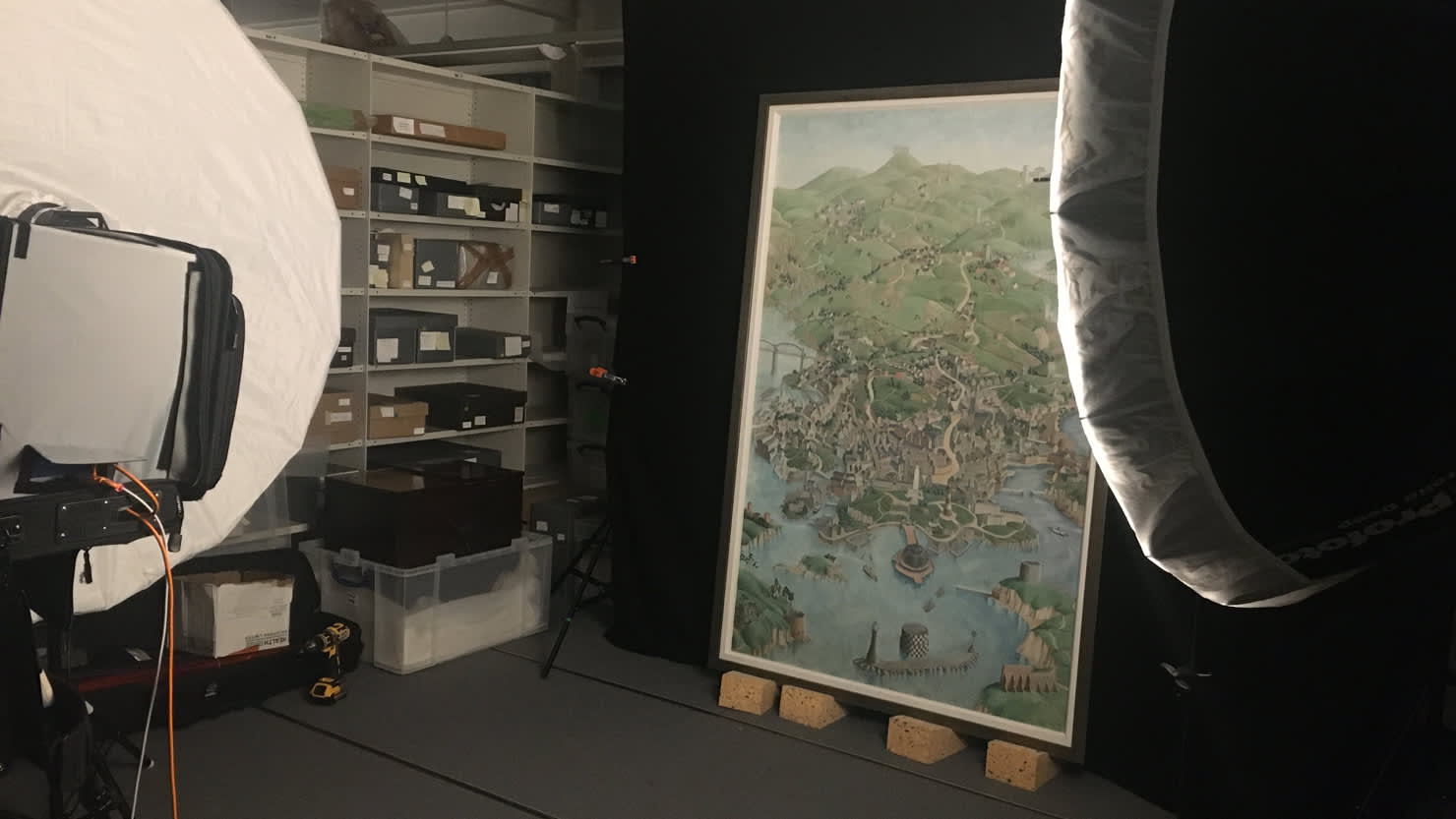 Dorothy Ward work undergoing conservation at The Box