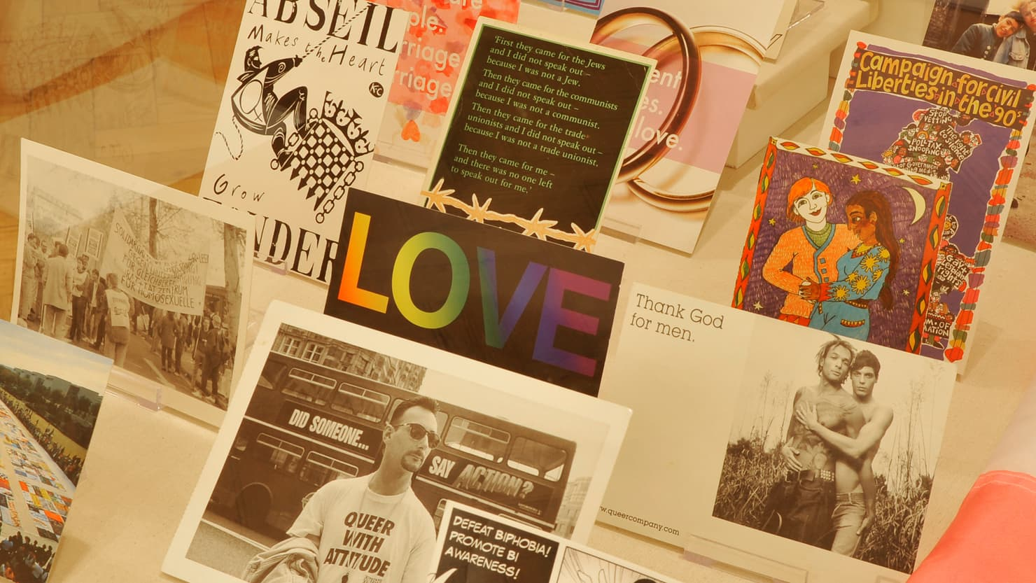 Close up image of a one of the display cases in the former Plymouth Museum's 'Pride in our Past' exhibition