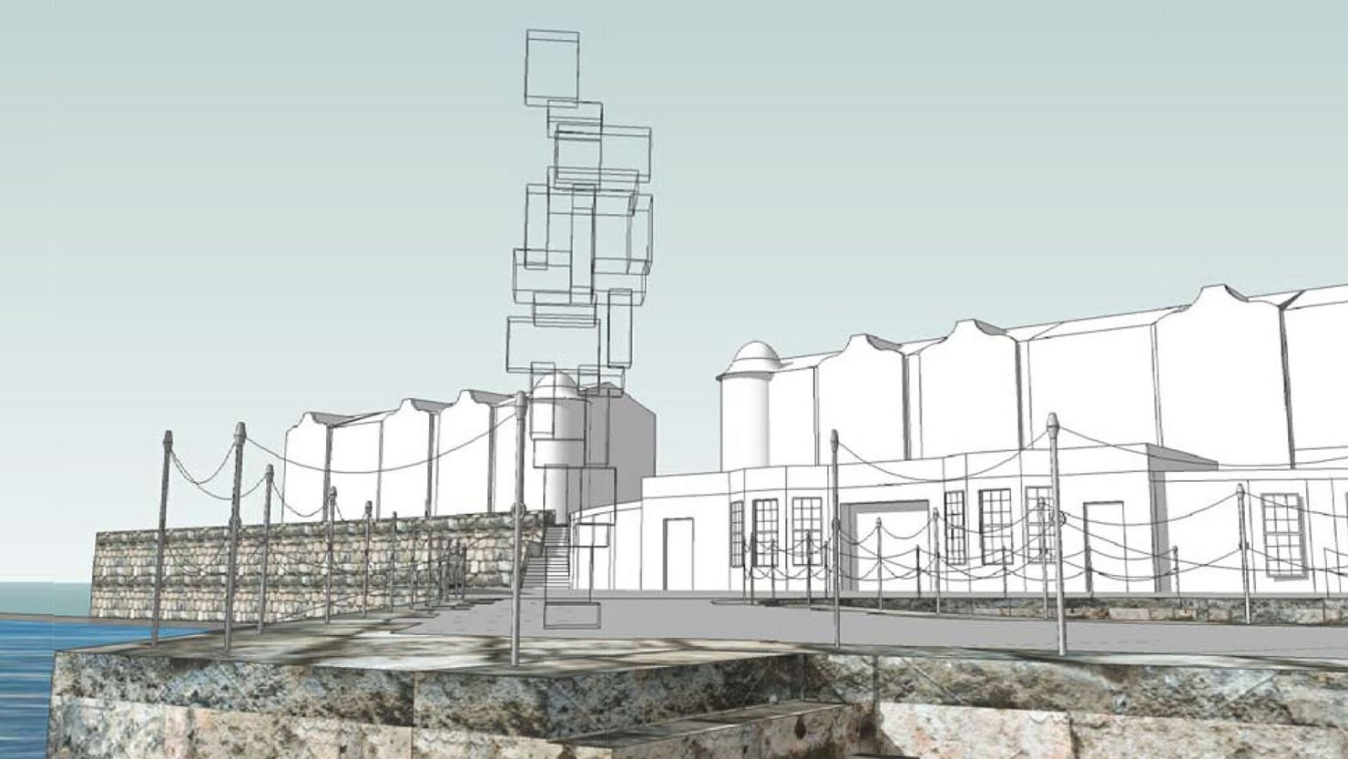 Look II - West Hoe Pier proposed sculpture1. Image courtesy Space Design Architecture Ltd