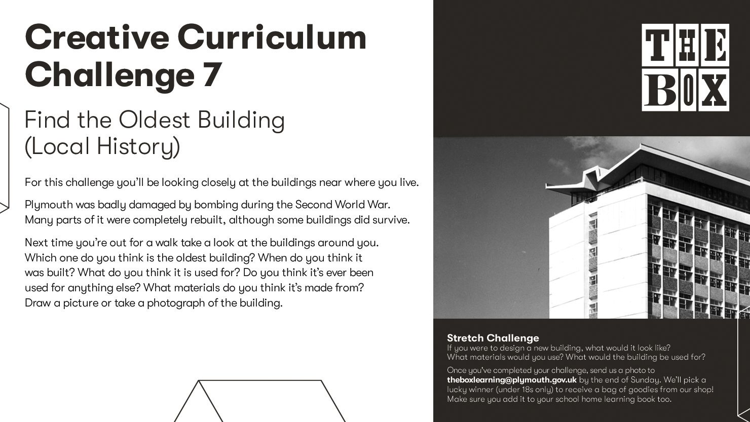 Graphic for The Box's Curriculum Challenge 7
