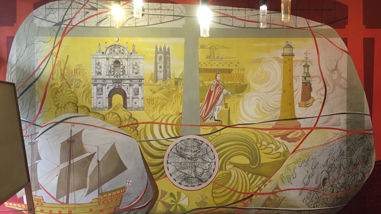 Mary Adshead Mural in Plymouth's Council House