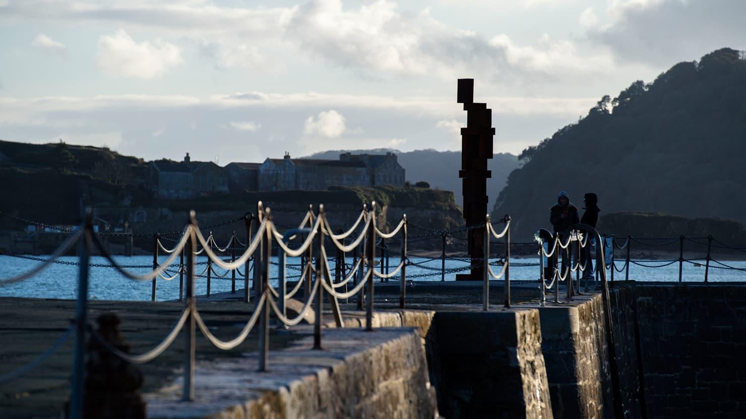 LOOK II by Antony Gormley on West Hoe Pier, October 2020