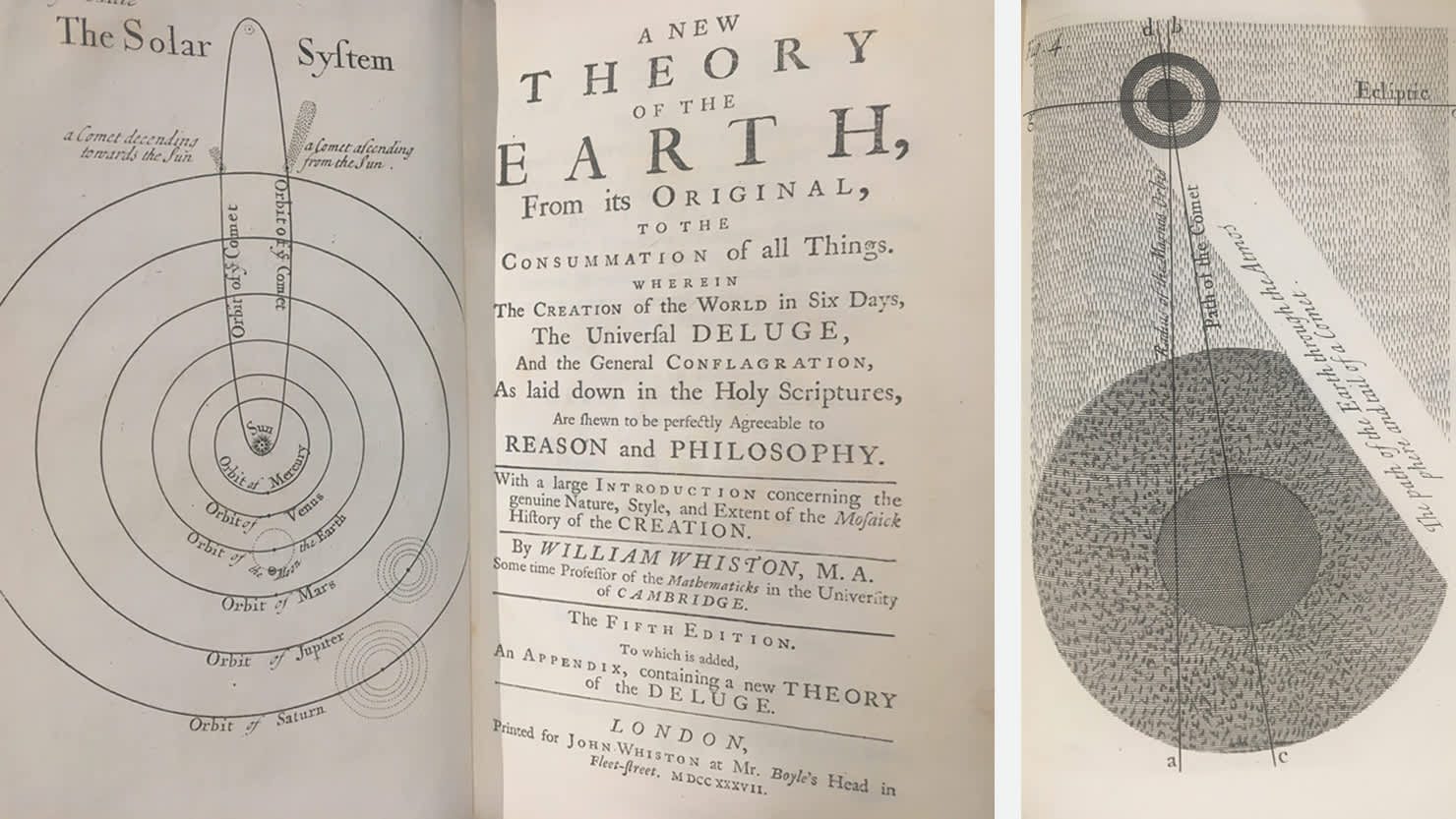 'A New Theory of the Earth' by William Whiston, 1737 from The Box's Cottonian Collection (CB489)