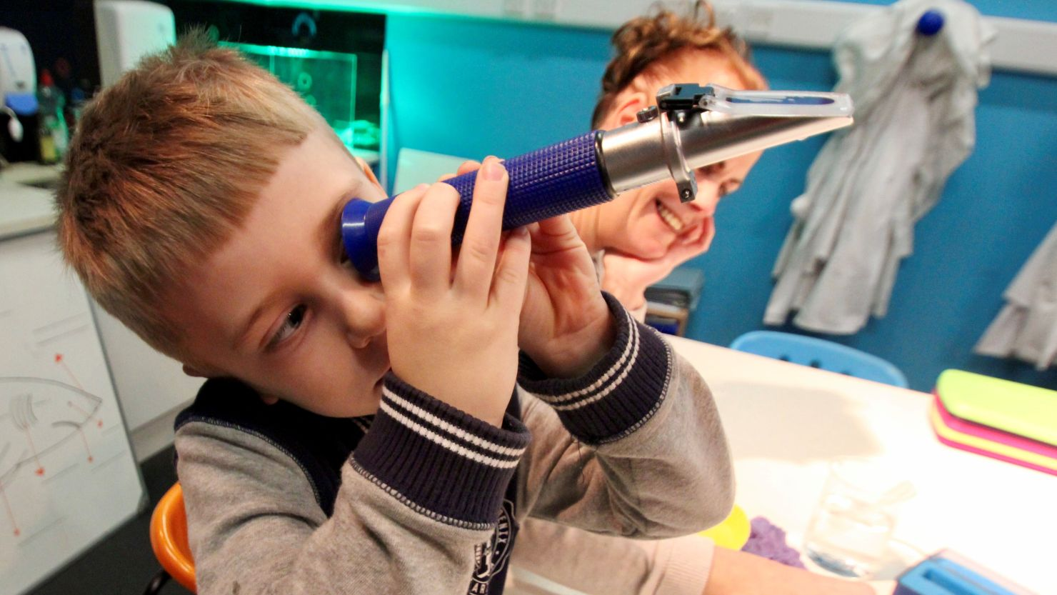 Child with Telescope