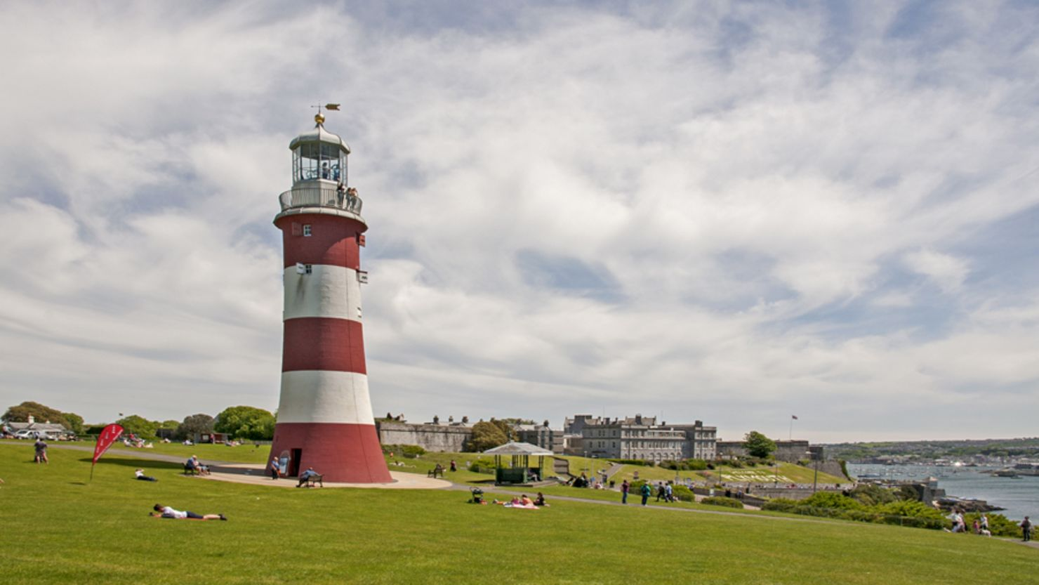 Smeaton's Tower lighthouse on the Hoe
