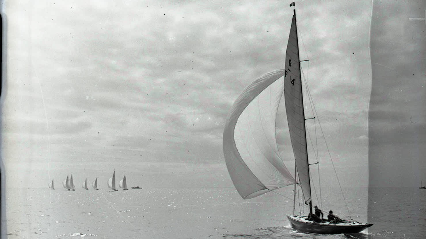 Olympic yachting, Torbay, 4 August 1948. (Image Ref: 1418/3129) © Mirrorpix