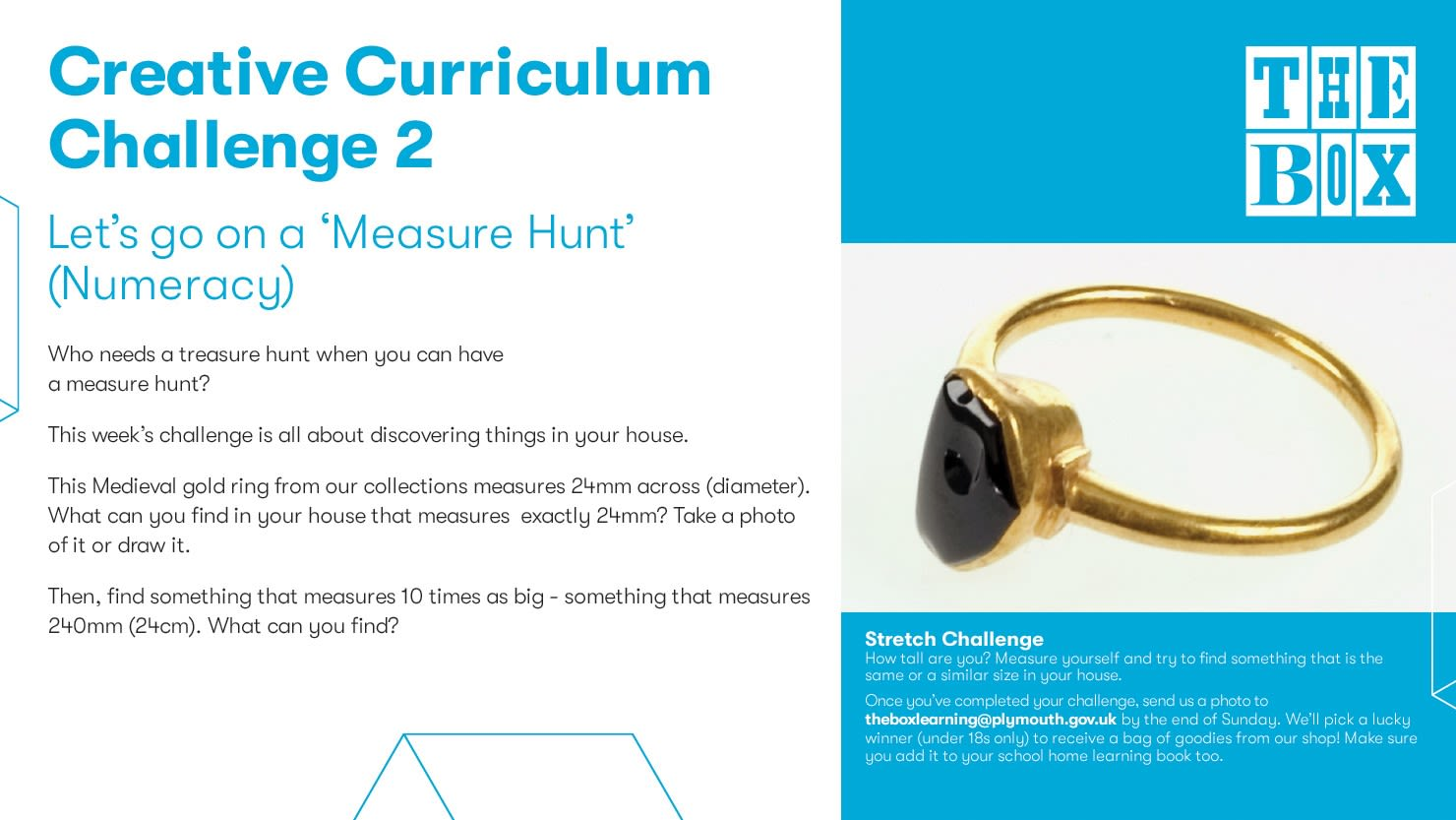 Graphic for The Box's numeracy curriculum challenge