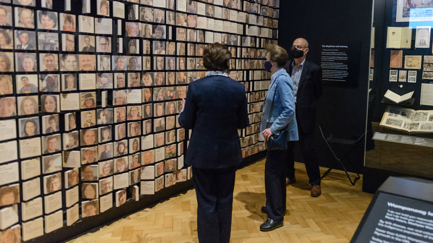 HRH The Princess Royal looking at the Legend and Legacy exhibition at The Box