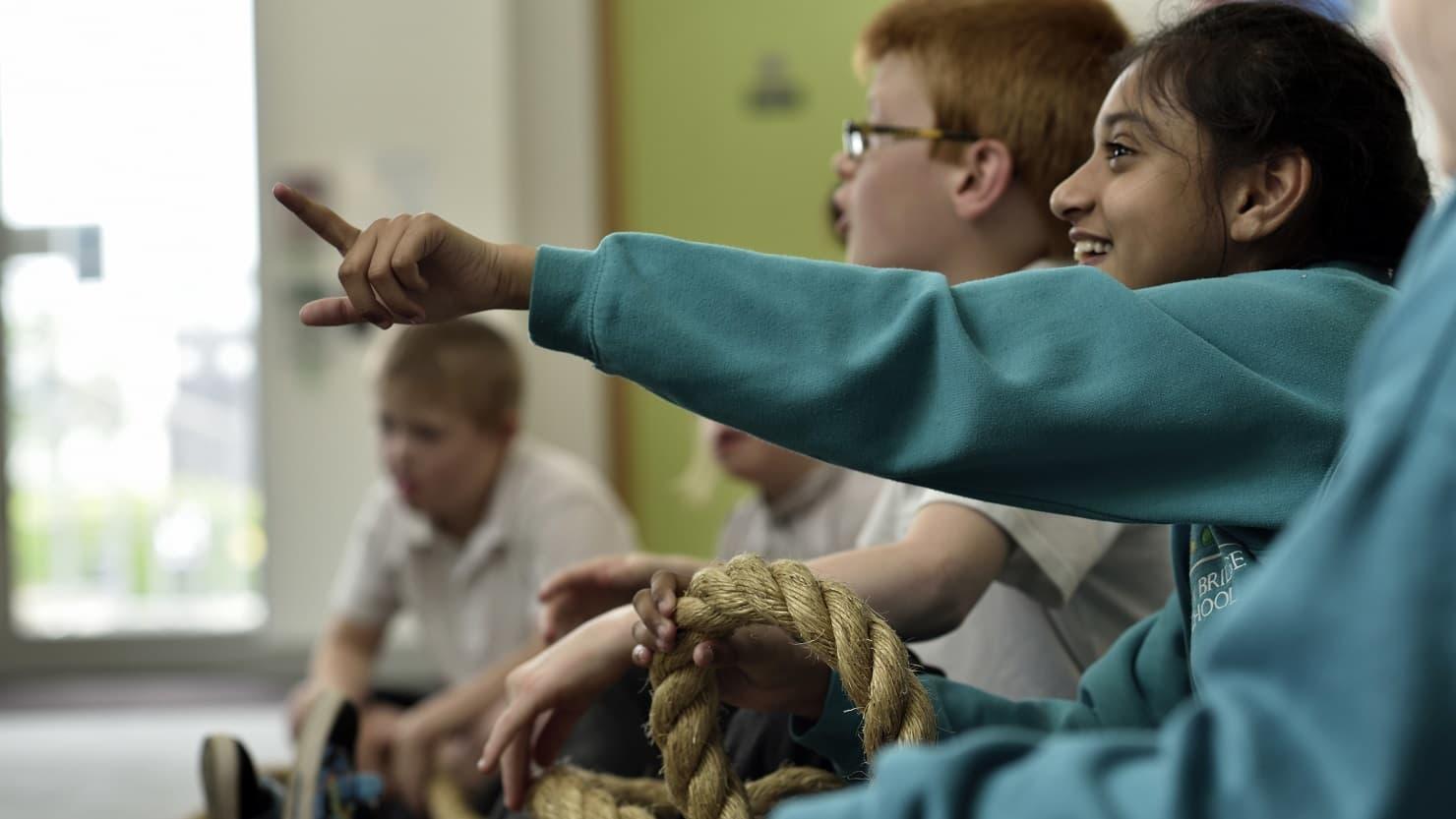 School children in a workshop at The Box