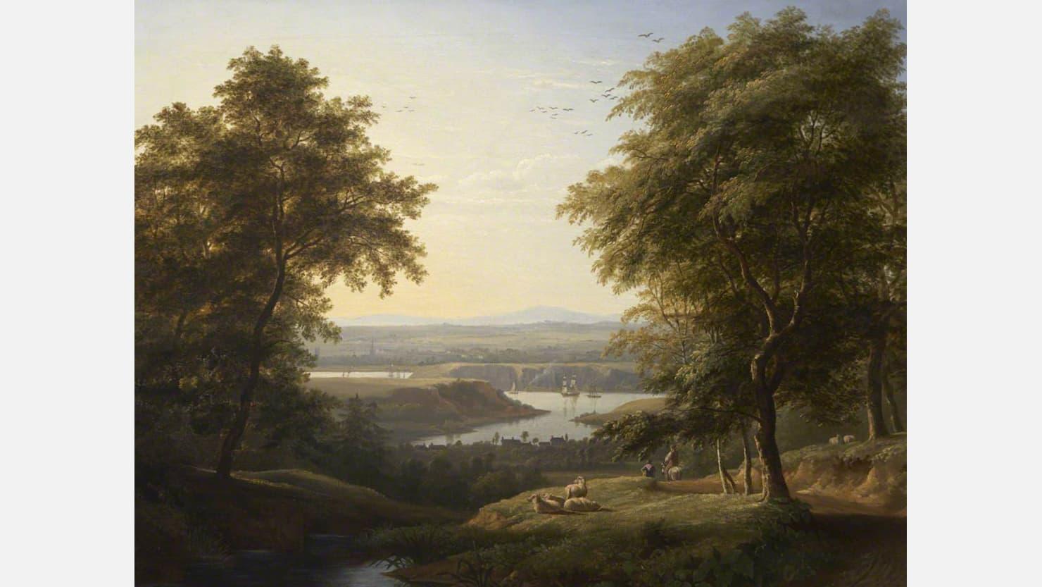 Hooe Lake by Philip Hutchins Rogers
