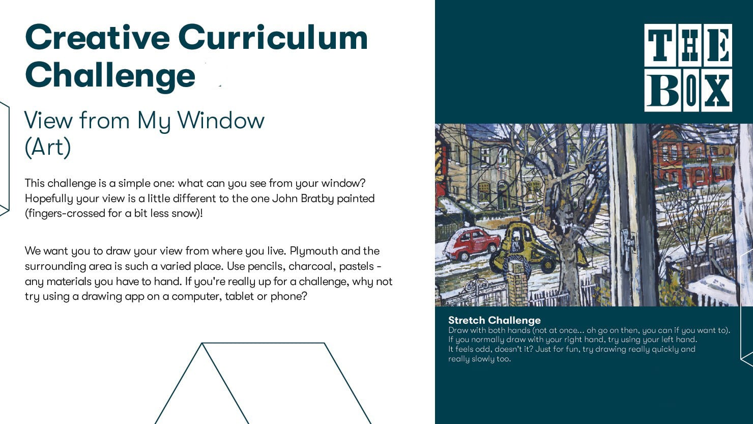 Graphic for The Box's drawing curriculum challenge