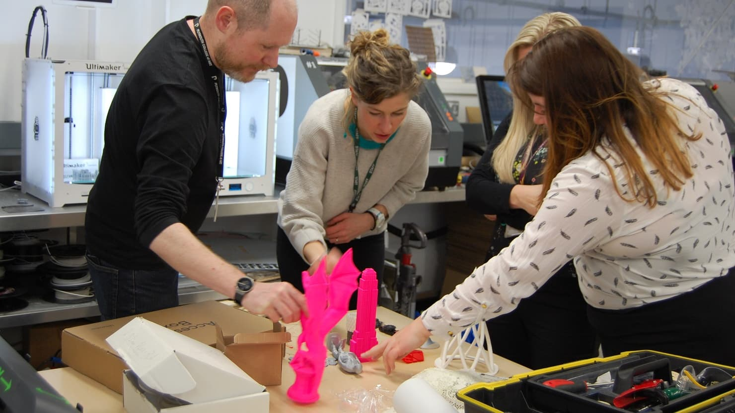 Teachers in a CPD session led by The Box