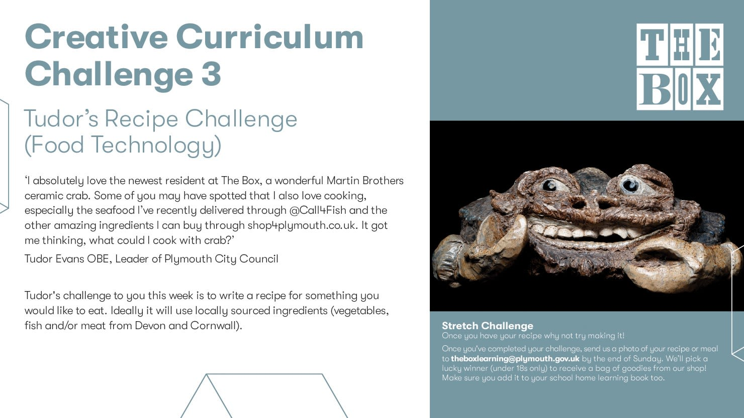 Graphic for The Box's Creative Curriculum Challenge 3