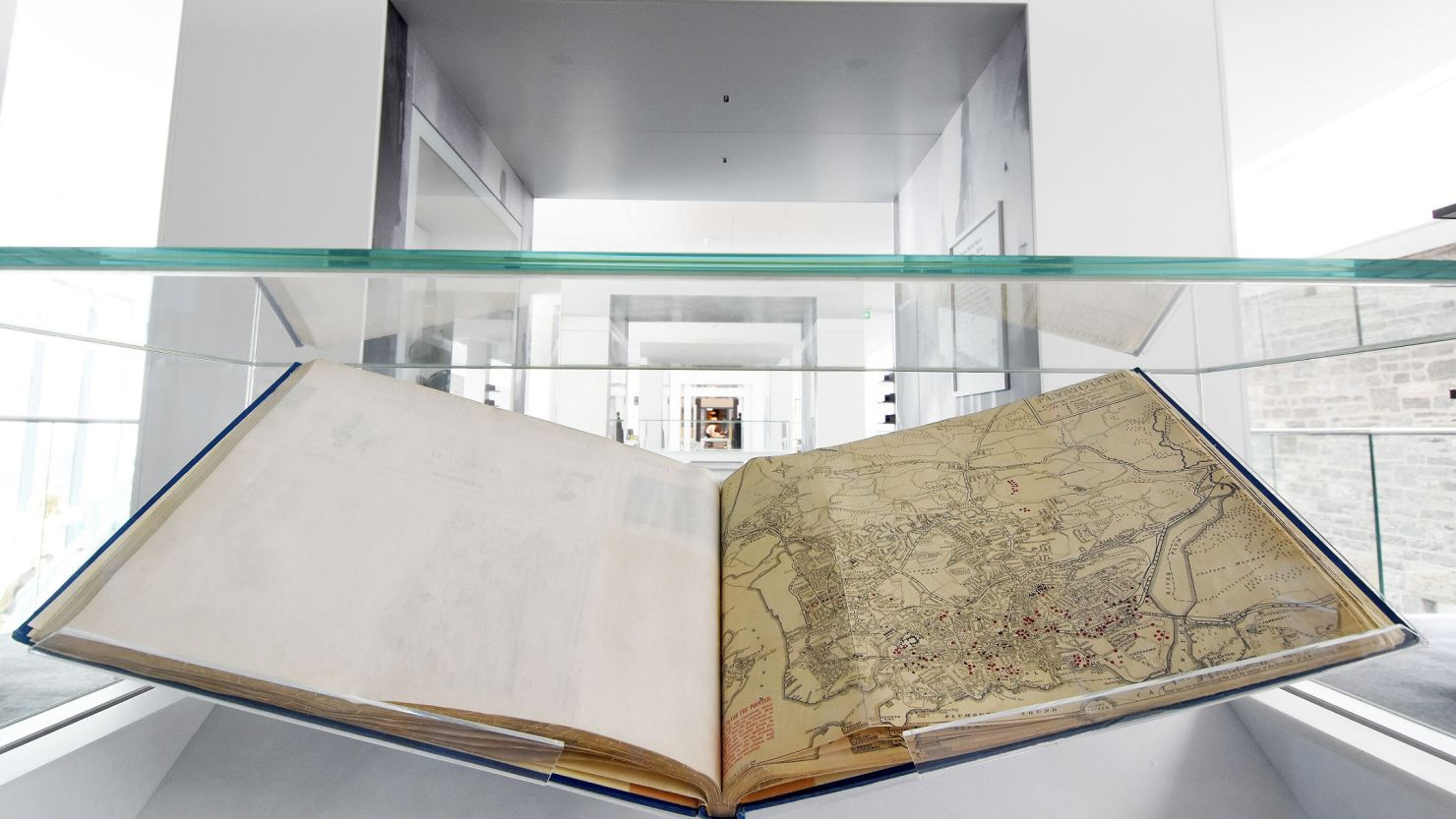 The 'Bomb Book' on display in The Box's 'Active Archives' gallery