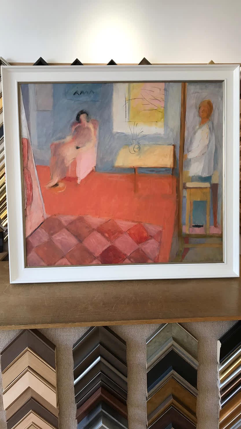 Rose Hilton painting with frame