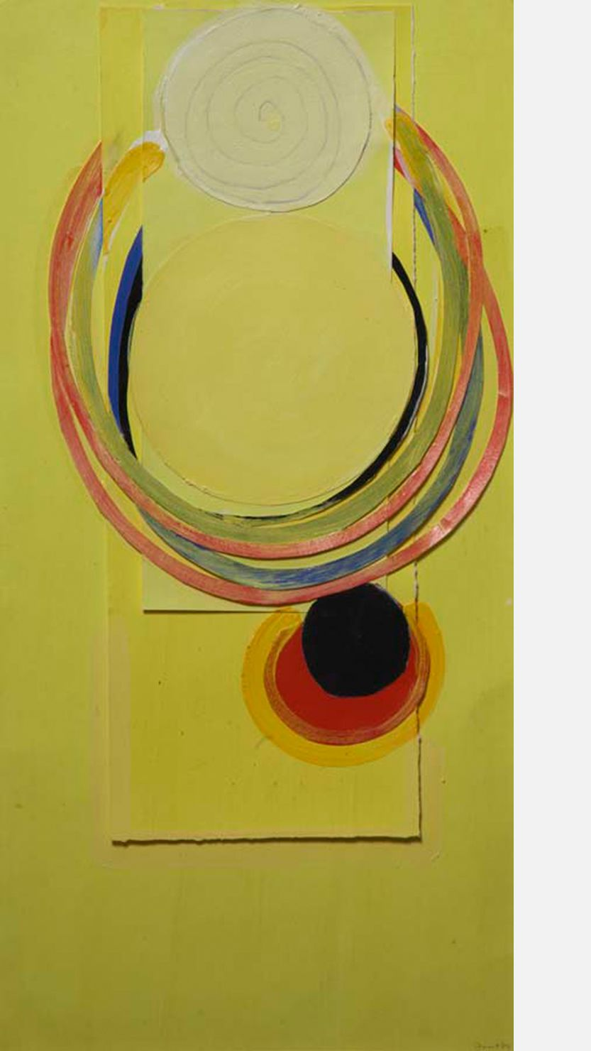 Yellow Suspended Form, 1979 by Terry Frost