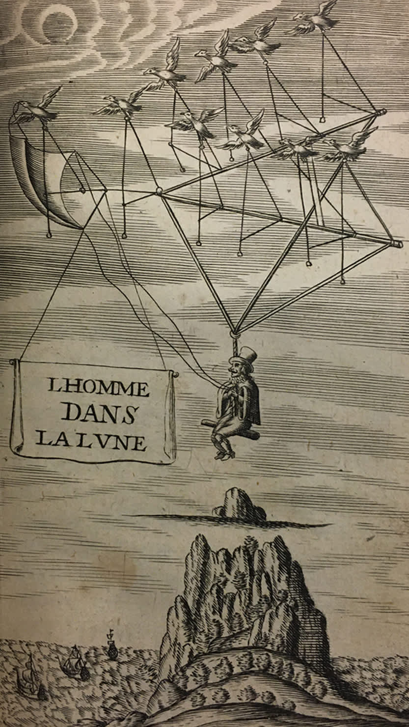 'Man in the Moone' by Domingo Gonsales (Francis Godwin), 1638 from The Box's Cottonian Collection (CB650)