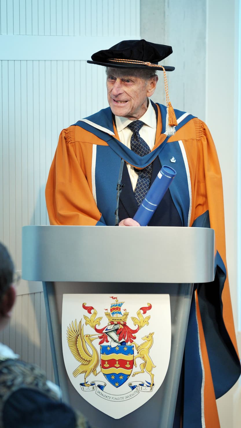 Prince Philip receives his Honorary Doctorate Degree in Marine Science from the University of Plymouth in 2012
