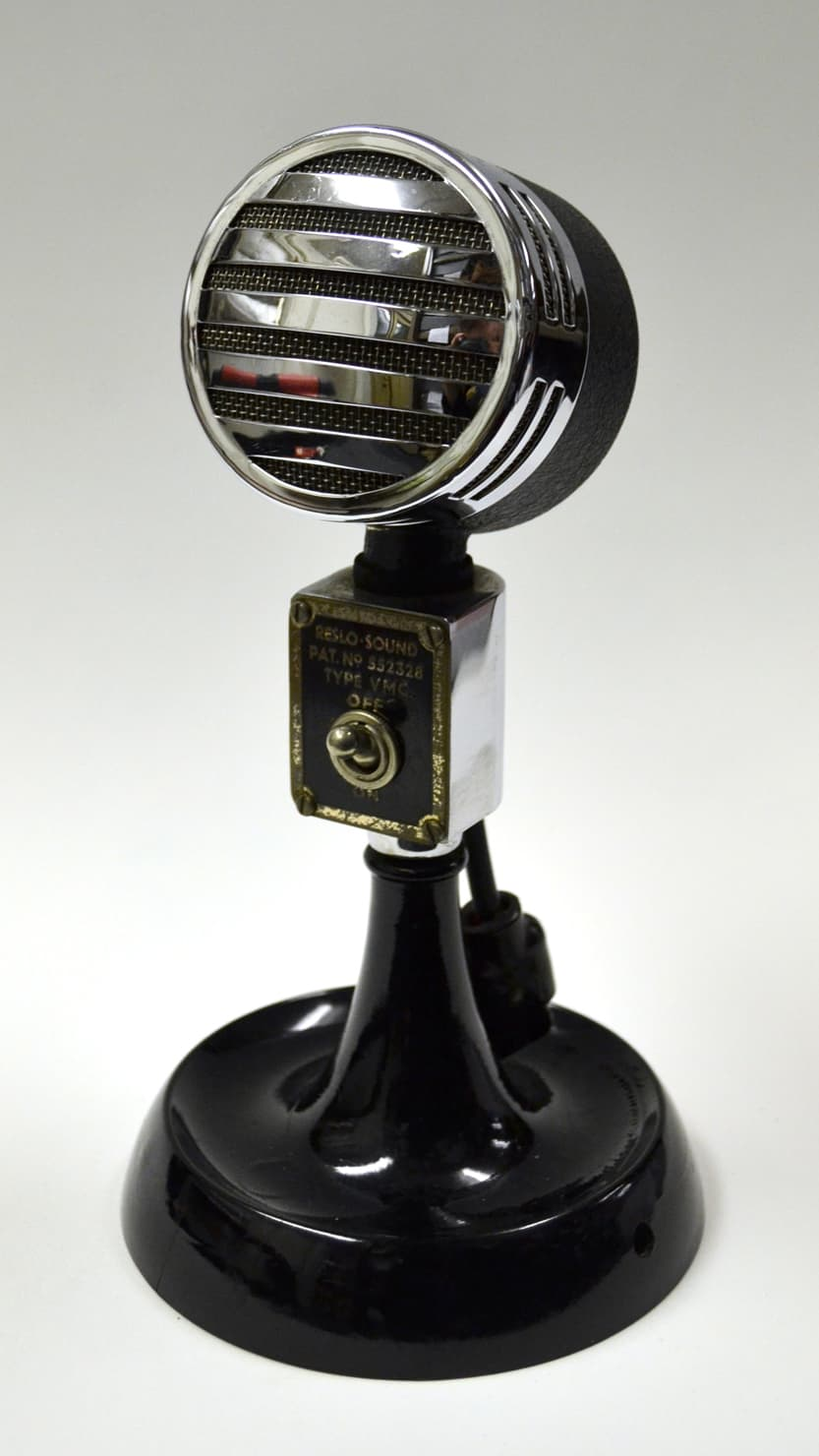 King George VI microphone from The Box, Plymouth's permanent collections. Courtesy of The Box, Plymouth