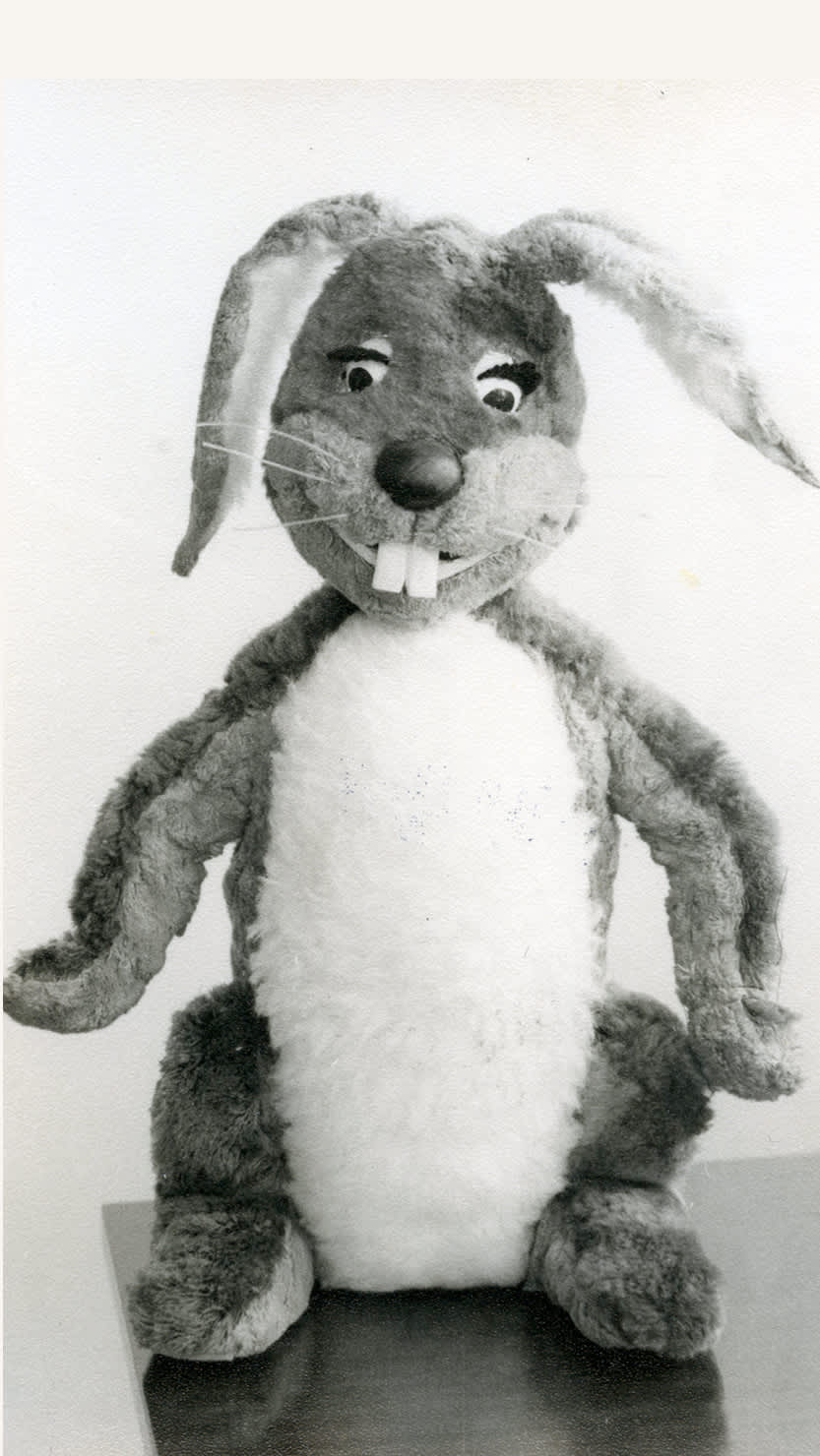An image of what we believe to be the original Gus Honeybun puppet