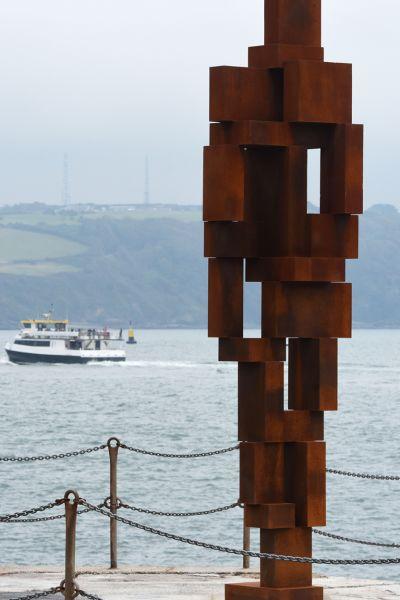 LOOK II by Antony Gormley on West Hoe Pier, September 2020