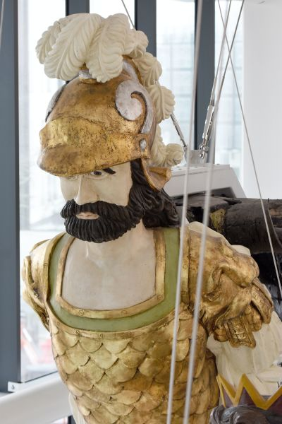 Close up of figurehead