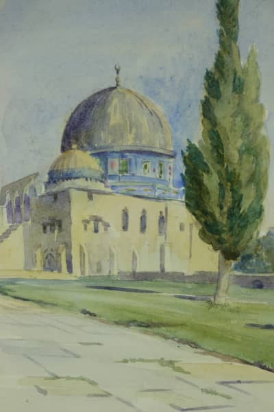 Egypt watercolour by WO Reynolds dating from 1918