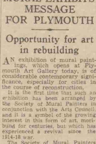 Post-war art-related newspaper cutting