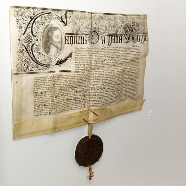 Charter on display in the 'Active Archives' gallery at The Box, Plymouth