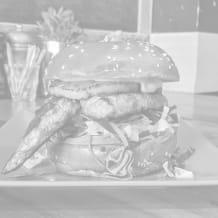 Photo of menu item: A Jamaican Burger!