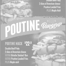 Photo of menu item: Poutine Burgers