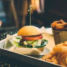 Photo of menu item: Mushroom Burger (v)