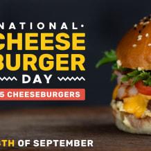 Photo of menu item: $5 National Cheeseburger Day Cheeseburger