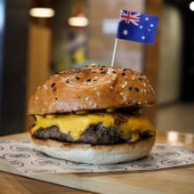 Photo of menu item: Station St Burger (Our Famous)