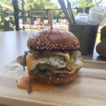 Photo of menu item: Jarryd Brekkie Burger