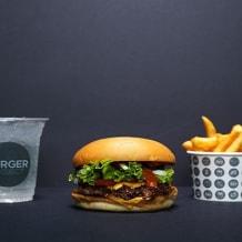 Photo of menu item: Burger, Chips, Soft Drink