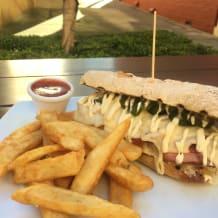 Photo of menu item: The Monster Reuben Sandwich