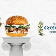 Photo of menu item: Our big greek lamb burgers