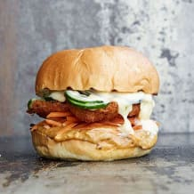 Photo of menu item: Barramundi fish burger