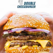 Photo of menu item: £6 double cheeseburger