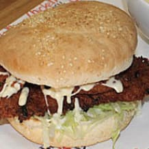 Photo of menu item: Chicken Schnitzel Burger