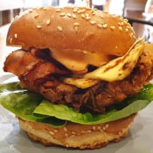Photo of menu item: Big Red Chicken Burger