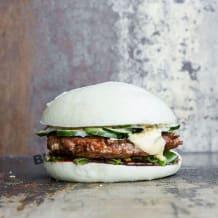 Photo of menu item: Pork and prawns burger