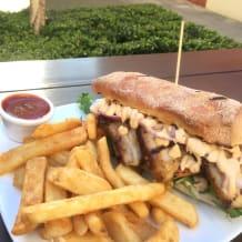 Photo of menu item: Peruvian Pork Sandwich