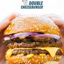 Photo of menu item: $6 double cheeseburger deal