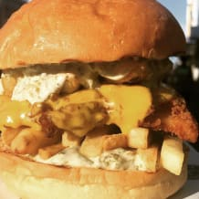Photo of menu item: Southern fried fush n chups burg!
