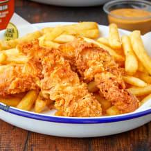 Photo of menu item: Chicken Tenders & Chips