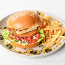 Photo of menu item: Falafel Burger (V)