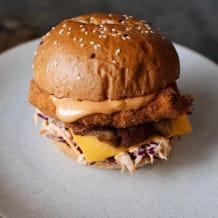 Photo of menu item: Chicken Schnitzel Burger