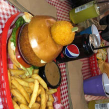 Photo of menu item: The Nimbin Burger 🍔